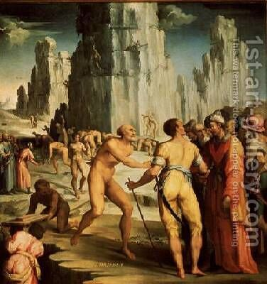 The Diamond Mine 1570-71 by da San Friano Maso - Reproduction Oil Painting