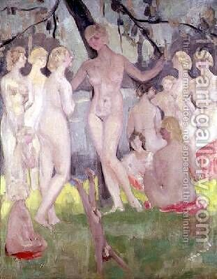 The Bathers by Jacqueline Marval - Reproduction Oil Painting