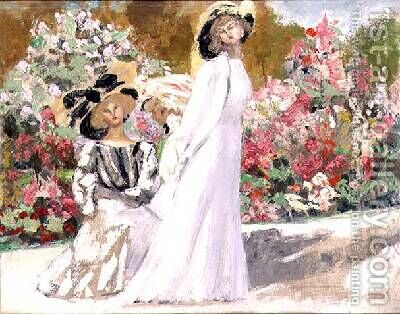 Friends 1907 by Jacqueline Marval - Reproduction Oil Painting