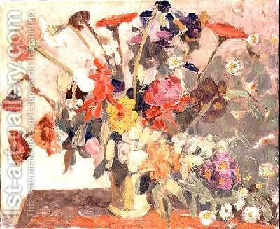 A Bouquet of Flowers 1908 by Jacqueline Marval - Reproduction Oil Painting