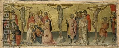 The Crucifixion of Christ 1390 by di Bartolomeo di Biagio Martino - Reproduction Oil Painting