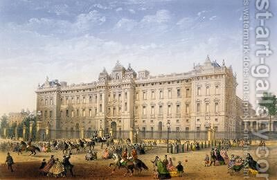 Buckingham Palace 1862 by Achille-Louis Martinet - Reproduction Oil Painting