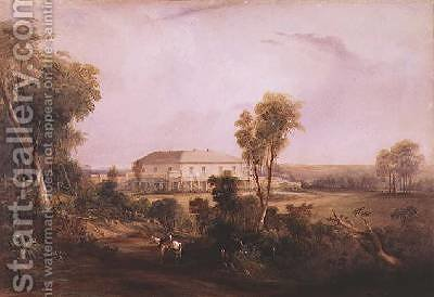 Camden Park House home of John MacArthur 1767-1834 by Conrad Martens - Reproduction Oil Painting