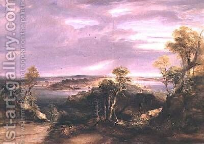 Sydney and Botany Bay from the North Shore 1840 by Conrad Martens - Reproduction Oil Painting