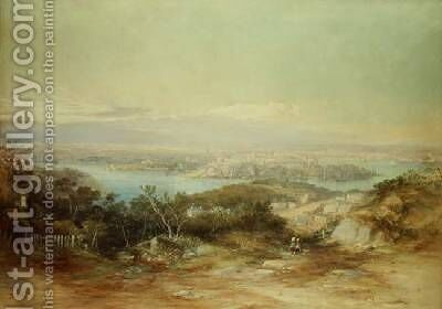 View of Sydney Looking From the North Shore Towards the City by Conrad Martens - Reproduction Oil Painting