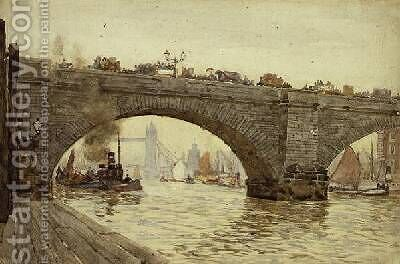 London Bridge by Herbert Menzies Marshall - Reproduction Oil Painting