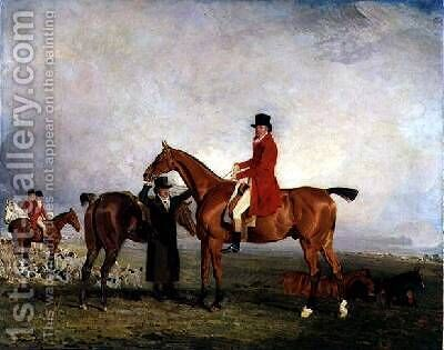 George 5th Duke of Gordon on Tiny 1806-7 by Benjamin Marshall - Reproduction Oil Painting