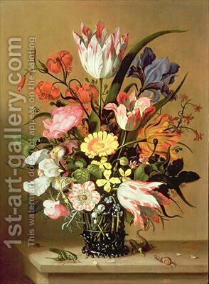 Flowers in a Vase by Jacob Marrel - Reproduction Oil Painting