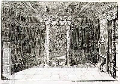 Design for a Bedchamber with a Four Poster Bed by Daniel the Elder Marot - Reproduction Oil Painting
