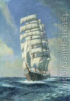 Unnamed clipper ship by Claude Marks - Reproduction Oil Painting