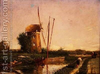 A Mill on the Hague by Anthony Mark - Reproduction Oil Painting