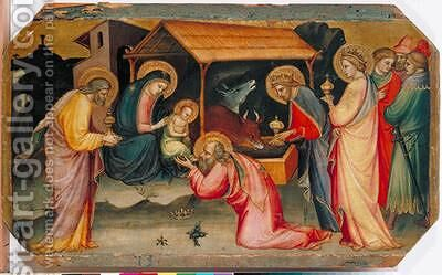 Adoration of the Magi 1405 by di Nardo Mariotto - Reproduction Oil Painting