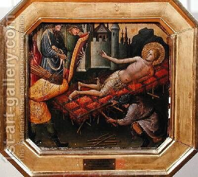 The Martyrdom of St Lawrence by di Nardo Mariotto - Reproduction Oil Painting