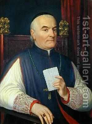 Portrait of Monsignor Ferdinando Baldanzi Archbishop of Siena 1856 by Antonio Marini - Reproduction Oil Painting