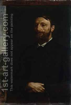 Portrait of Dr Konrad Fiedler 1879 by Hans von Marees - Reproduction Oil Painting