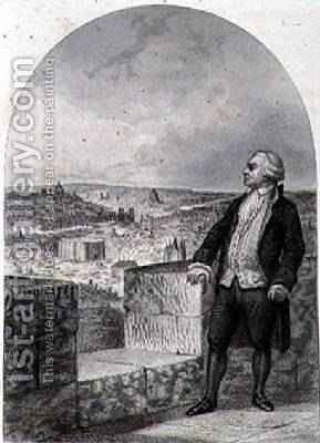 Honore Gabriel Riqueti Count of Mirabeau 1749-91 on the ramparts of Paris by (after) Marckl, Louis - Reproduction Oil Painting