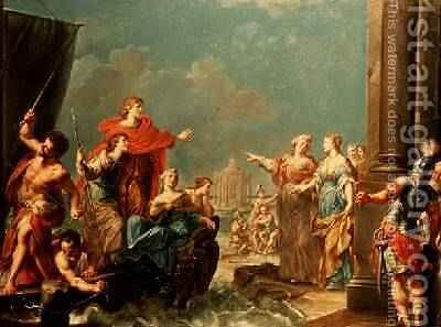 The Departure of Aeneas by Giuseppe (Il Sansons) Marchese - Reproduction Oil Painting