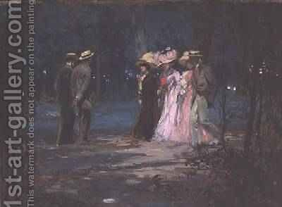 Evening Walk 1909 by Amedee Marcel-Clement - Reproduction Oil Painting