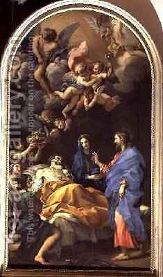 The Death of St Joseph 1676 by Carlo Maratta or Maratti - Reproduction Oil Painting