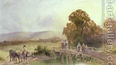 The Downs at Midhurst by Henry Maplestone - Reproduction Oil Painting