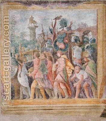 The Triumph of Caesar by (after) Mantegna, Andrea - Reproduction Oil Painting