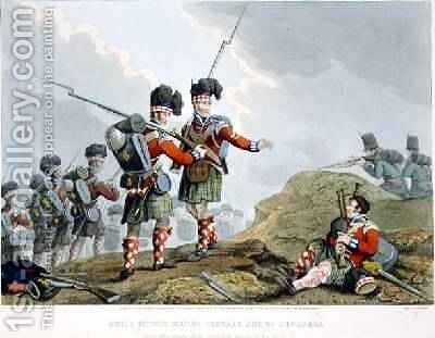Anecdote of the Bravery of the Scotch Piper of the 11th Highland Regiment at the Battle of Vimiero by (after) Manskirch, Franz Joseph - Reproduction Oil Painting