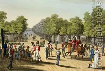 Encampment of the British Army in the Bois de Boulogne 1815 by (after) Manskirch, Franz Joseph - Reproduction Oil Painting