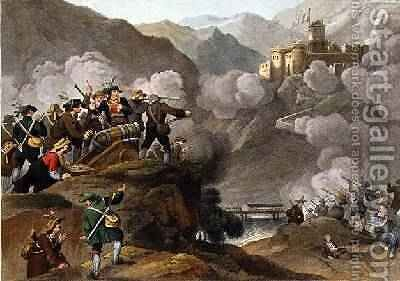 The Tirolese Patriots Storming the Fortress of Kuffstein with their Wooden Guns by (after) Manskirch, Franz Joseph - Reproduction Oil Painting