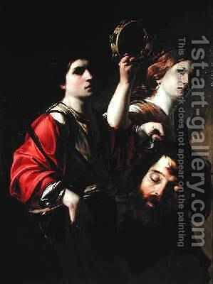 David Triumphant by Bartolomeo Manfredi - Reproduction Oil Painting