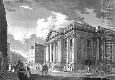 The Royal Exchange Dublin 1792 by James Malton - Reproduction Oil Painting