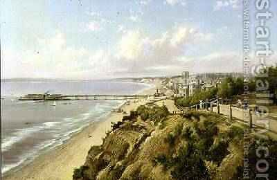Bournemouth from the East Cliff 1890 by Henry Maidment - Reproduction Oil Painting