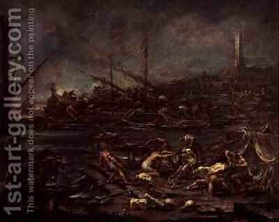 The Embarkation of the Galley Slaves 1730 by Alessandro Magnasco - Reproduction Oil Painting