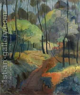 Forest Path 1920 by Dorothea Maetzel-Johannsen - Reproduction Oil Painting