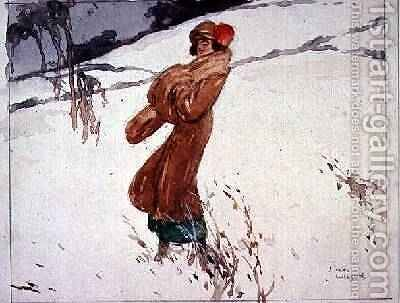 In The Snow by J. MacWilson - Reproduction Oil Painting