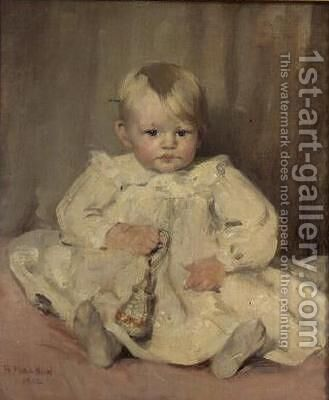 Baby Crawford 1902 by Bessie MacNicol - Reproduction Oil Painting