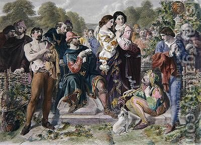 Orlando and the Wrestler by (after) Maclise, Daniel - Reproduction Oil Painting