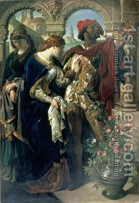 Othello Desdemona and Emilia 1867 by Daniel Maclise - Reproduction Oil Painting