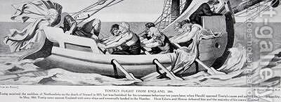 Tostigs flight from England in 1066 by Daniel Maclise - Reproduction Oil Painting