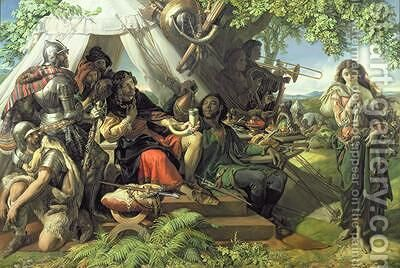 King Cophetua and the Beggar Maid by Daniel Maclise - Reproduction Oil Painting