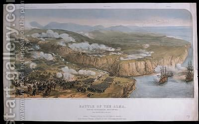 The Battle of Alma from the French position on 20th September 1854 1854 by (after) Maclane, Andrew - Reproduction Oil Painting