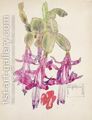 Cactus Flower by Charles Rennie Mackintosh - Reproduction Oil Painting