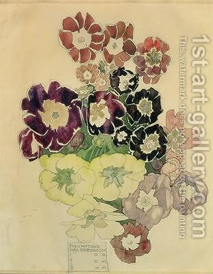 Polyanthus Walberswick 1915 by Charles Rennie Mackintosh - Reproduction Oil Painting