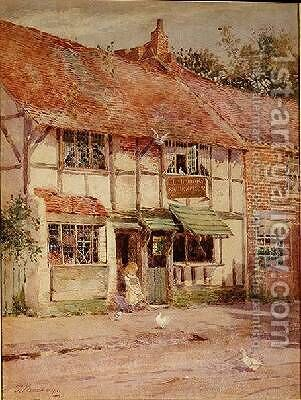 Anne Hathaways Cottage Shottery Warwickshire by James Mackay - Reproduction Oil Painting
