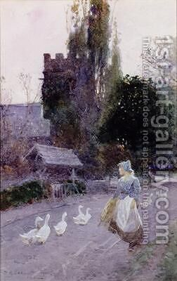 The Goose Girl by James Mackay - Reproduction Oil Painting