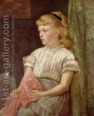 Portrait of a Girl 1896 by Blanche F MacArthur - Reproduction Oil Painting