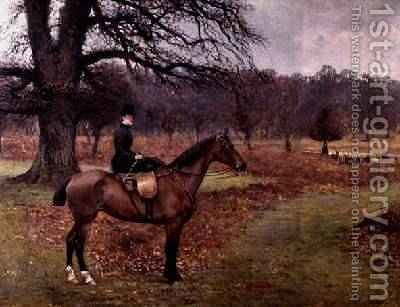 Lady Mabel Bridgeman on Claribel 1885 by Charles Augustus Henry Lutyens - Reproduction Oil Painting
