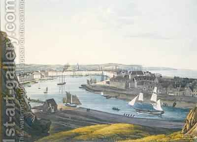 View of Dieppe by (after) Luttringshausen, Johann Heinrich - Reproduction Oil Painting