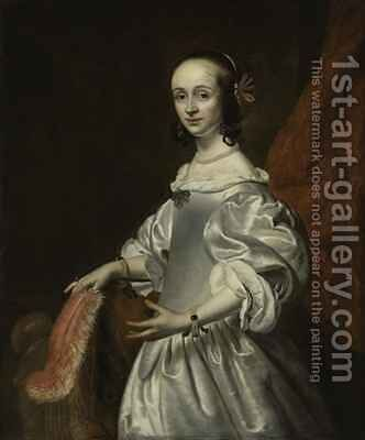 Portrait of a young lady by Isaac Luttichuys - Reproduction Oil Painting