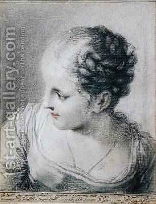Head of a Girl by Benedetto Luti - Reproduction Oil Painting