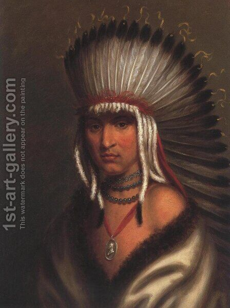 Petalesharro (Generous Chief) Pawnee 1822 by Charles Bird King - Reproduction Oil Painting